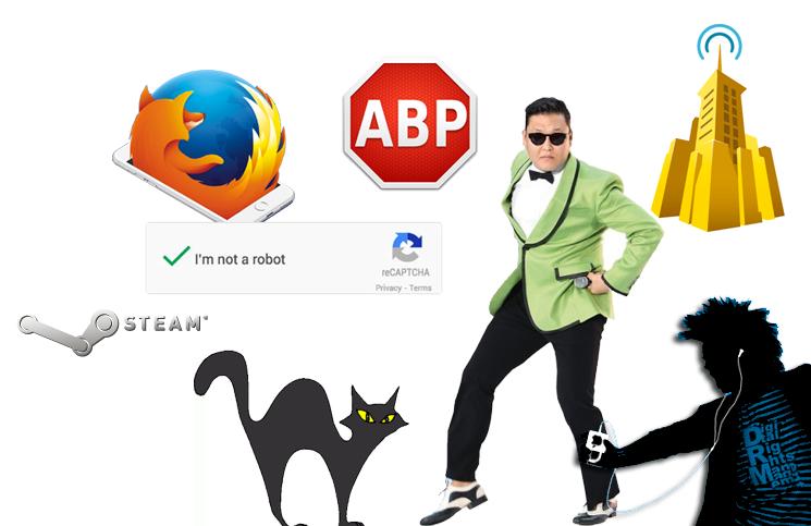 #13: Firefox pour iOS, Psy a cassé Youtube, reCaptcha remplacé, AdBlock en justice, Steam fait son Twitch,…