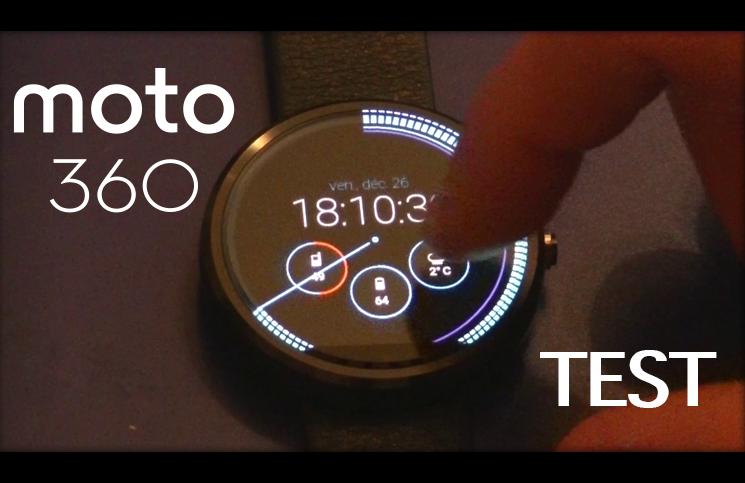 La montre connectée Moto 360 de Motorola: test et présentation