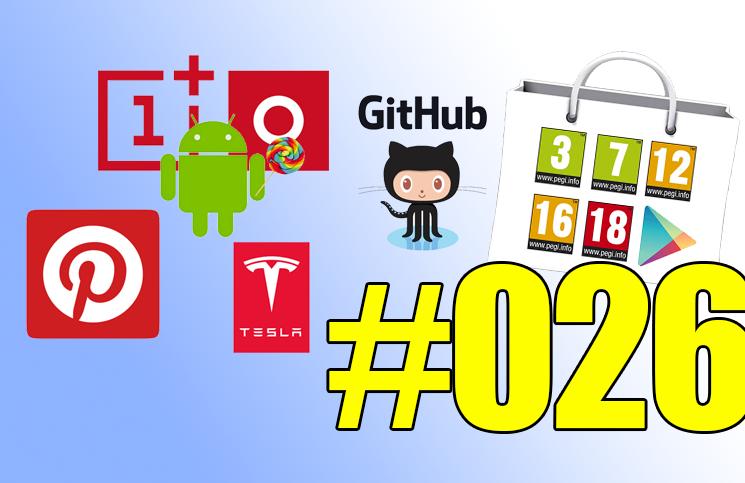 #26: OnePlus One sous Lollipop, PEGI dans le Play Store, Android Wear parle à iOS, Youtube à 360°,…