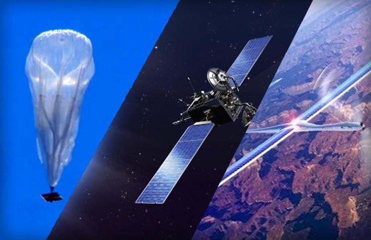Internet partout: Ballons, drones, satellites