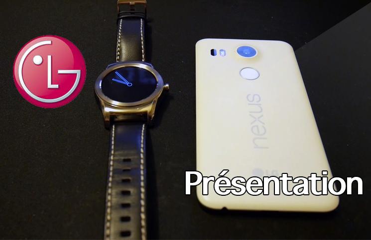 Double présentation LG: Nexus 5x & Watch Urbane