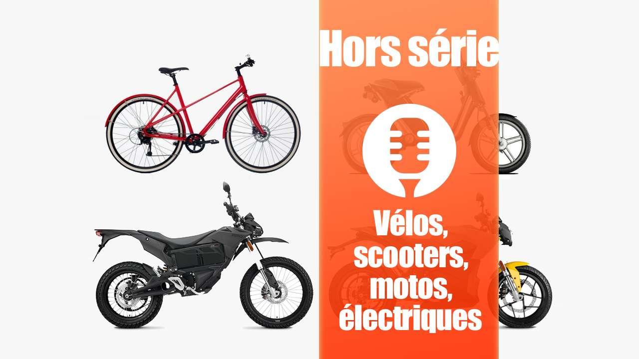 Véhicules électriques: vélos, scooters, motos
