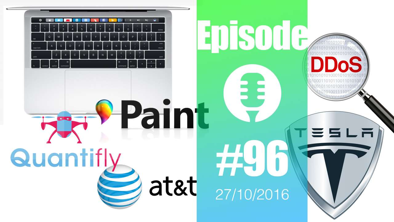 #96: MacBook Pro, AT&T, Quantifly, Jamboard, Surface Studio, MS Paint, DDoS, Twitter, Solar Roof,…