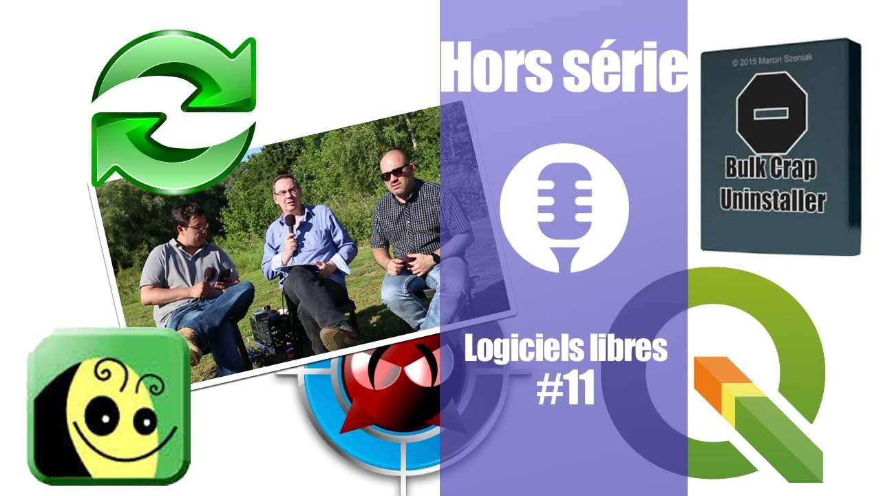 Logiciels libres #11: BulkCrap Uninstaller,  ClamAV, FreeFileSync, FreePlane, QGIS