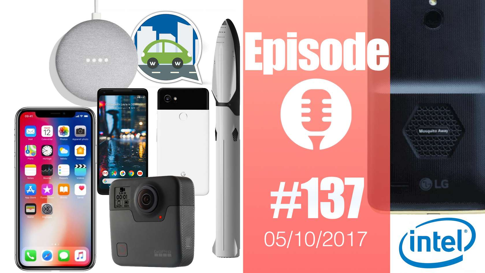 #137: Google Pixel 2, Home mini, GoPro Fusion, Intel Loihi, Commodore 64, SpaceX BFR, OnTune,…