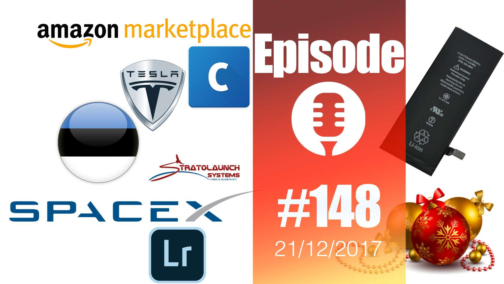 #148: Estcoin, Coinbase, Amazon Marketplace, Lightroom, SpaceX, Stratolaunch, Tesla,… Wonder Woman !