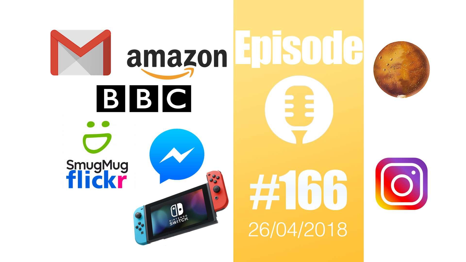 #166: Travaux à risque, jeux vidéos illégaux, effets sonores, Instagram, Flickr, Gmail, Switch,…
