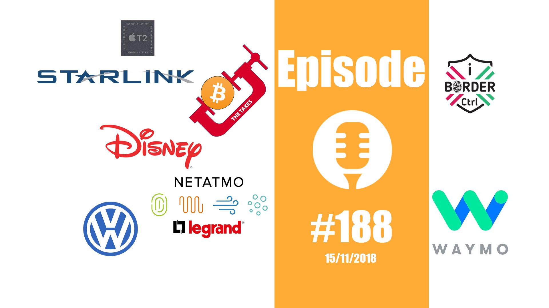 #188: T2 d'Apple, Starlink de SpaceX, taxis de Waymo, taxe sur le Bitcoin,…