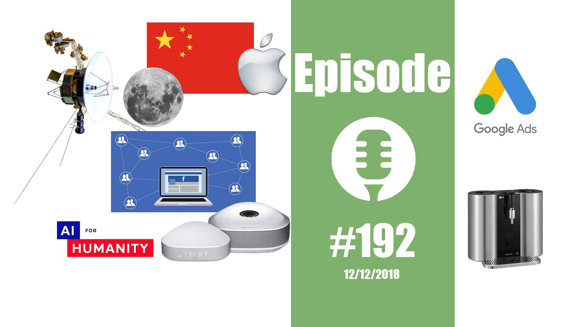 #192: Le GIEC de l'IA, la Chine dans le dos de la Lune, la Freebox Delta, un voyage de 41 ans,…