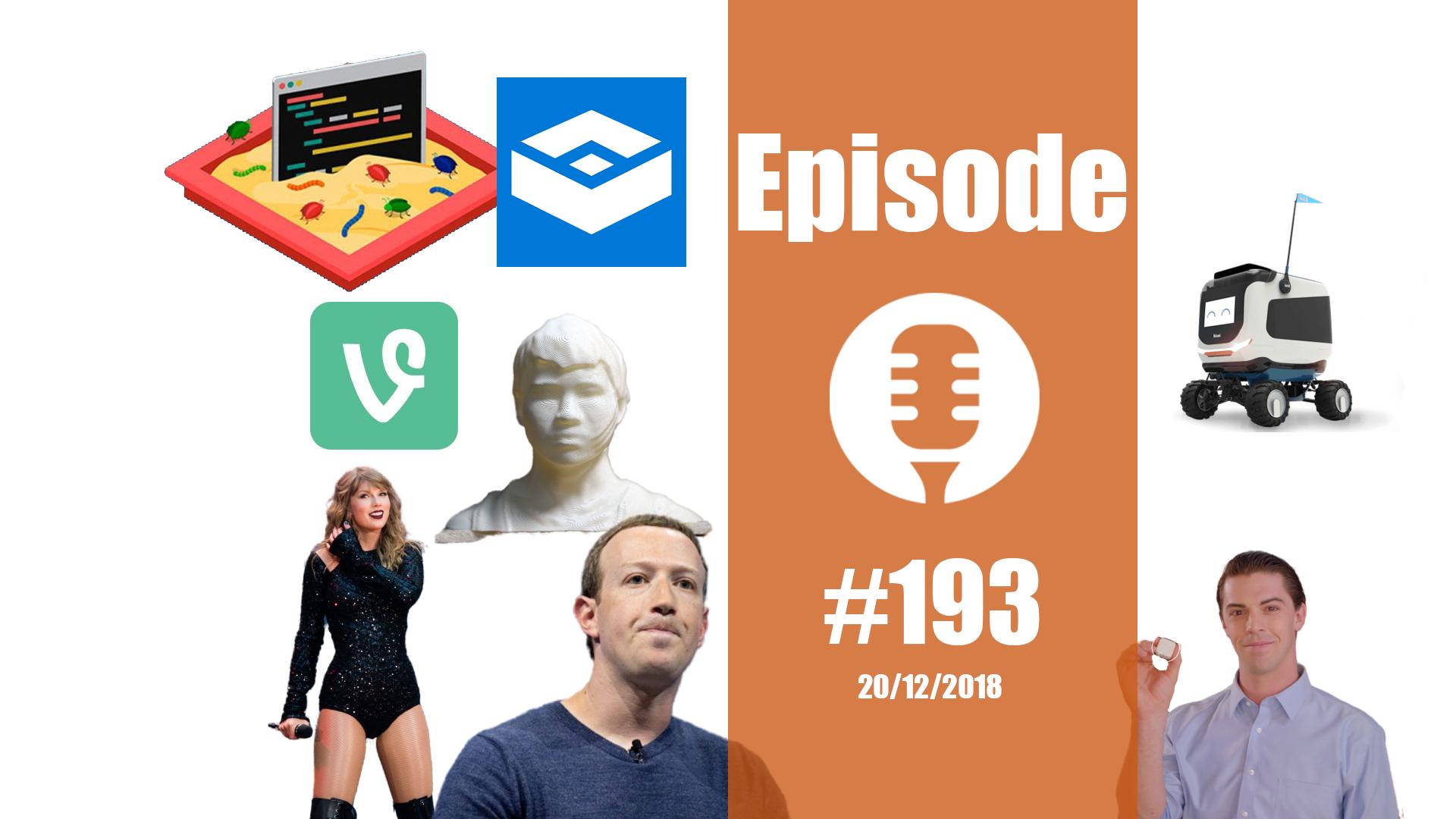 #193: La vie privée, Facebook, la reconnaissance faciale, le Kiwi, l'X32, l'iPad, … c'est plié !